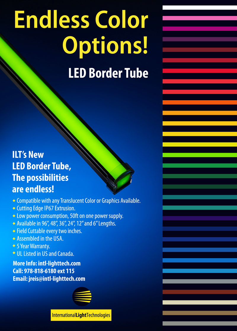LED border tube lights