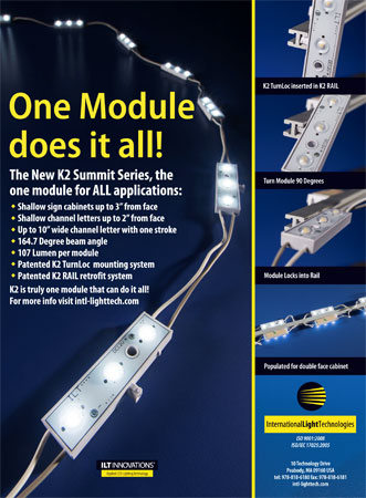 LED Modules and Rails for Shallow Signs ad