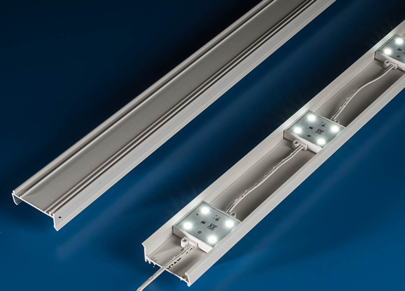 LED rail system for sign retrofits