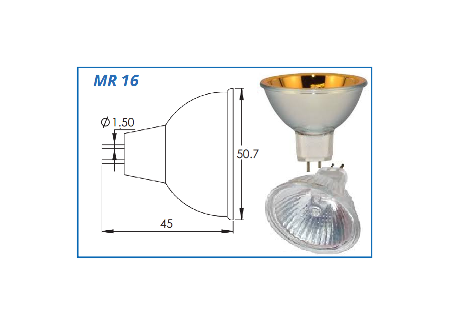 L6420-F MR16 Ellipsoidal 75W Halogen
