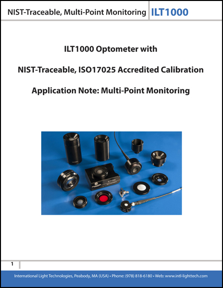 Optometer with NIST traceable multi-point monitoring