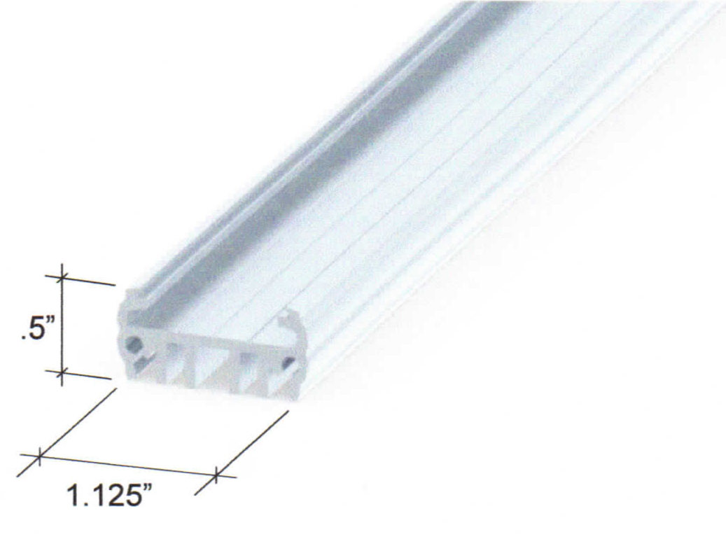 Awning illuminator extrusion drawing